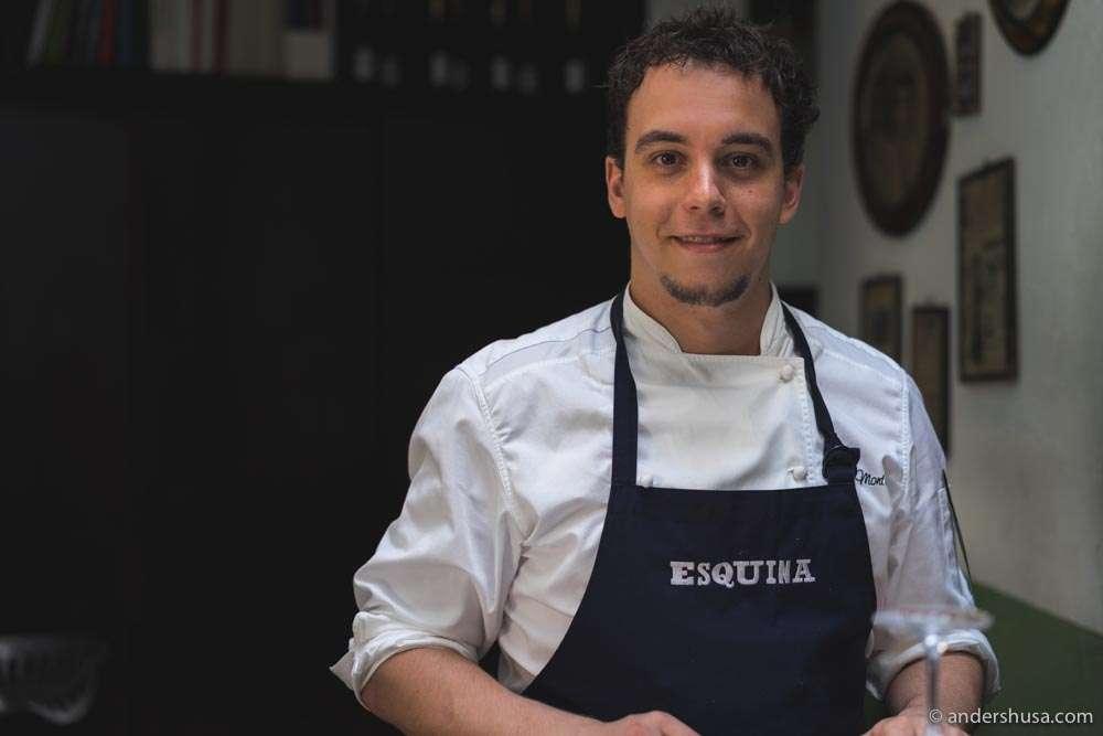 Head chef at Esquina – Carlos Montobbio.