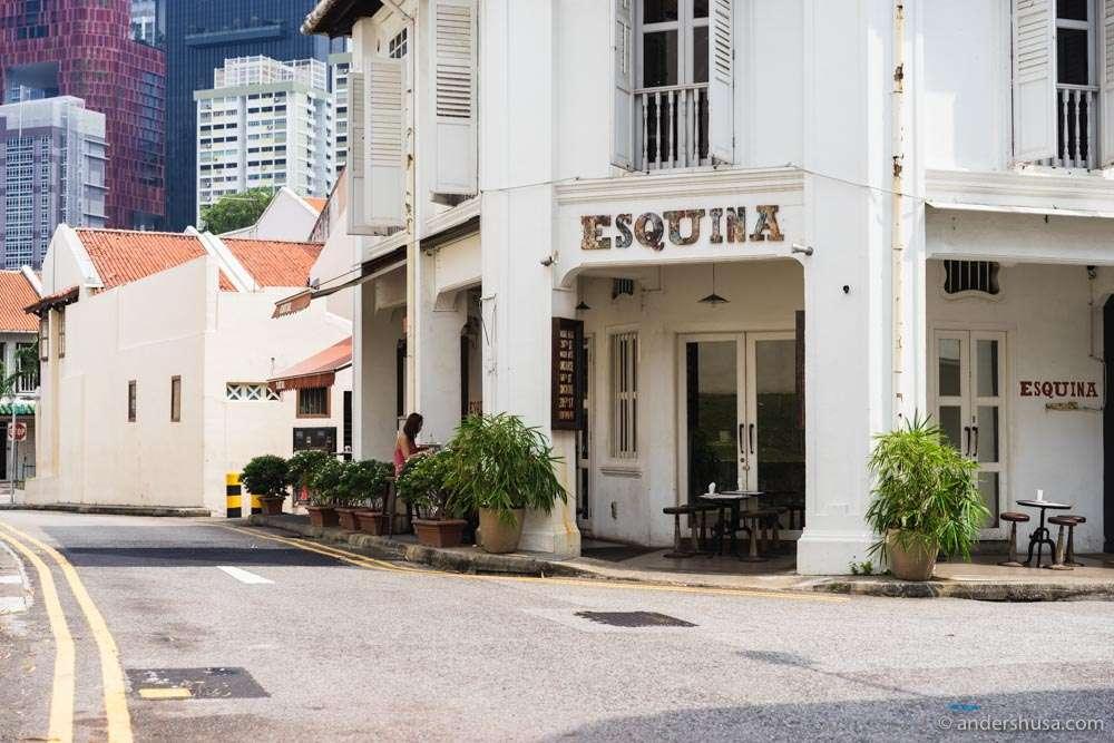 Restaurant Esquina in Singapore