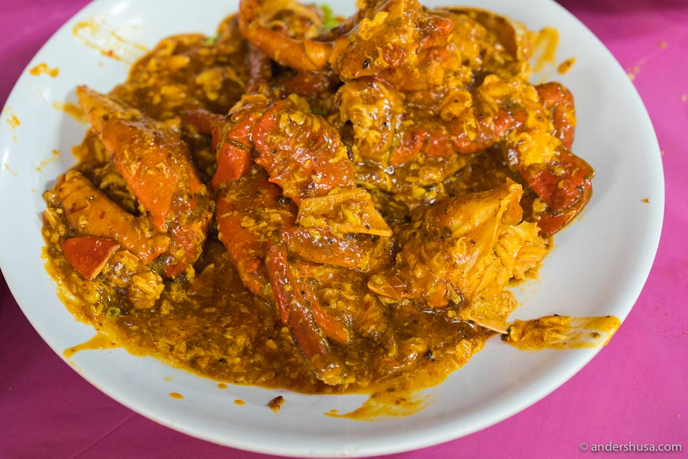 Singaporean chili crab at Keng Eng Kee Seafood