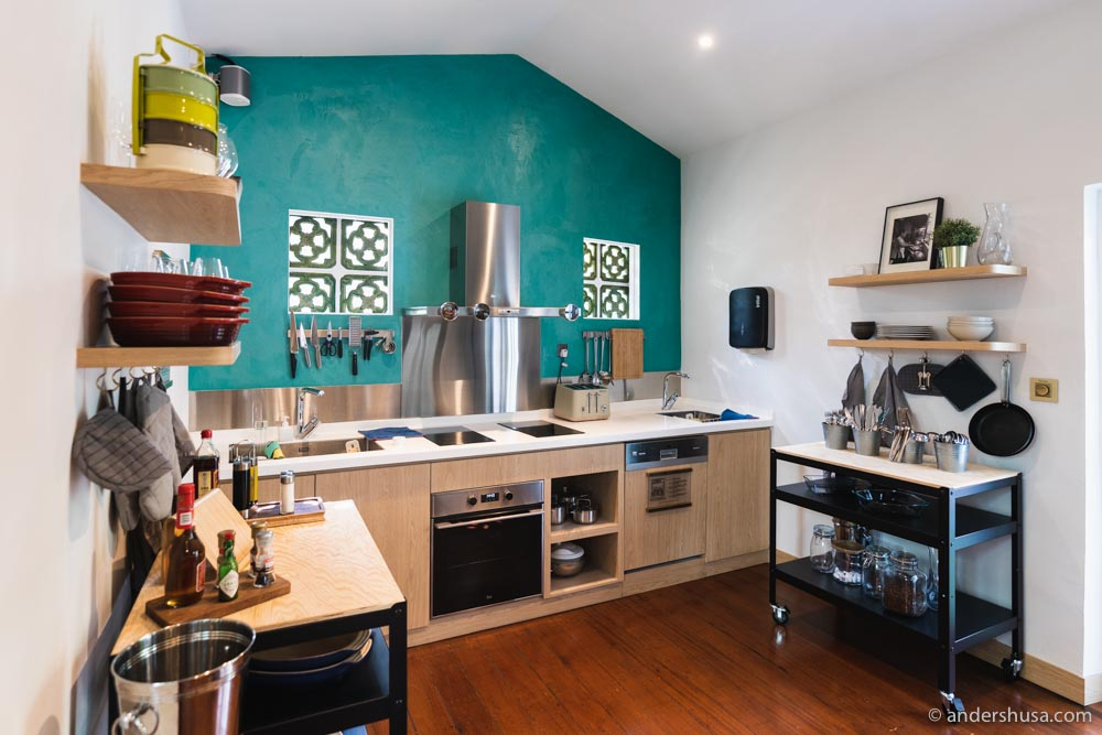 The shared kitchen at KēSa House