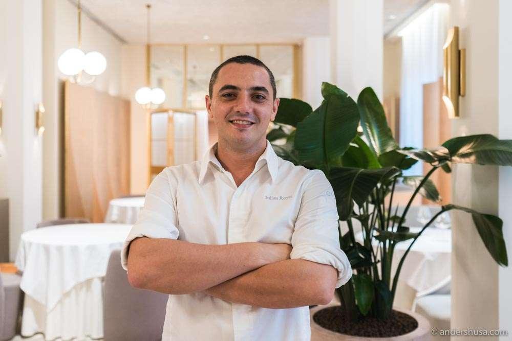 Chef Julien Royer at Odette.