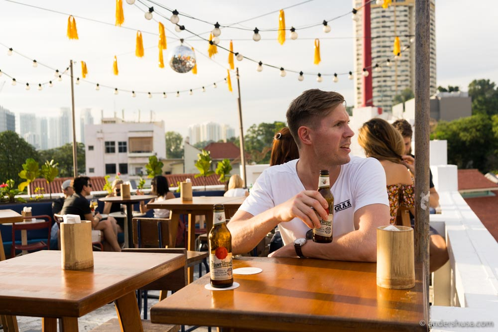 The rooftop bar of Potato Head Singapore.