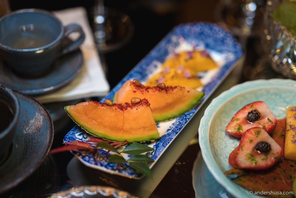 """Cantaloupe melon, pine nuts & espelette """"la."""""""