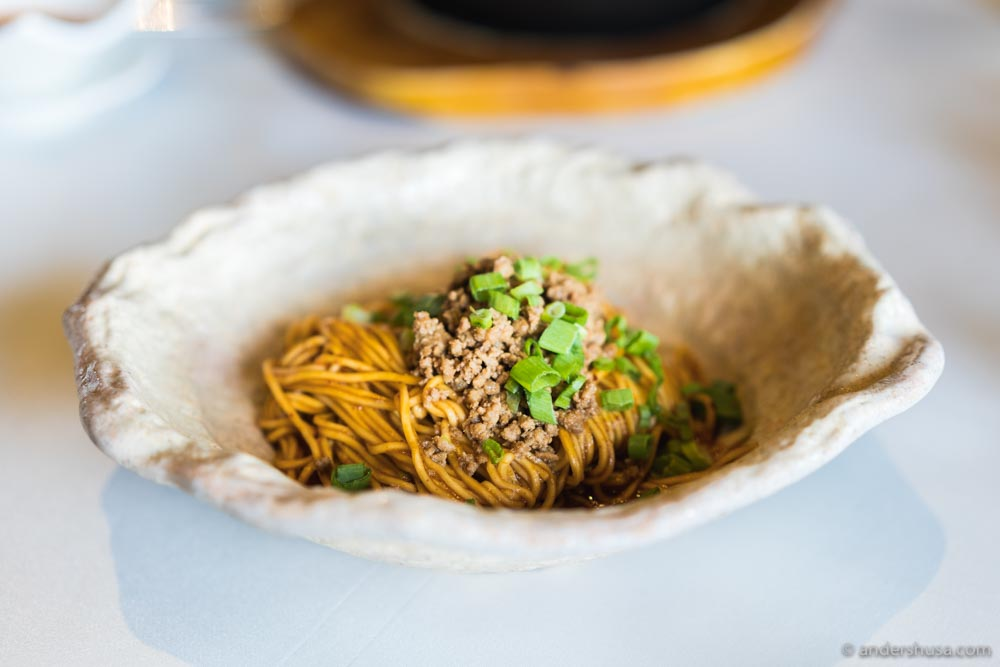 Chen's original spicy dry noodle.