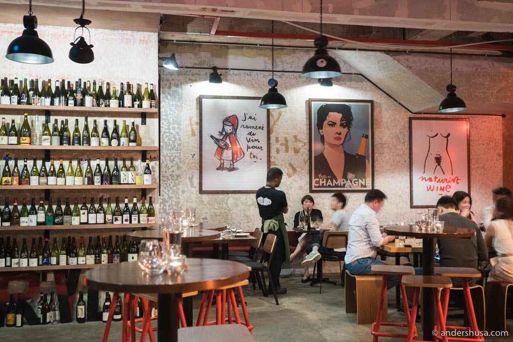Wine RVLT is the best natural wine bar in Singapore.