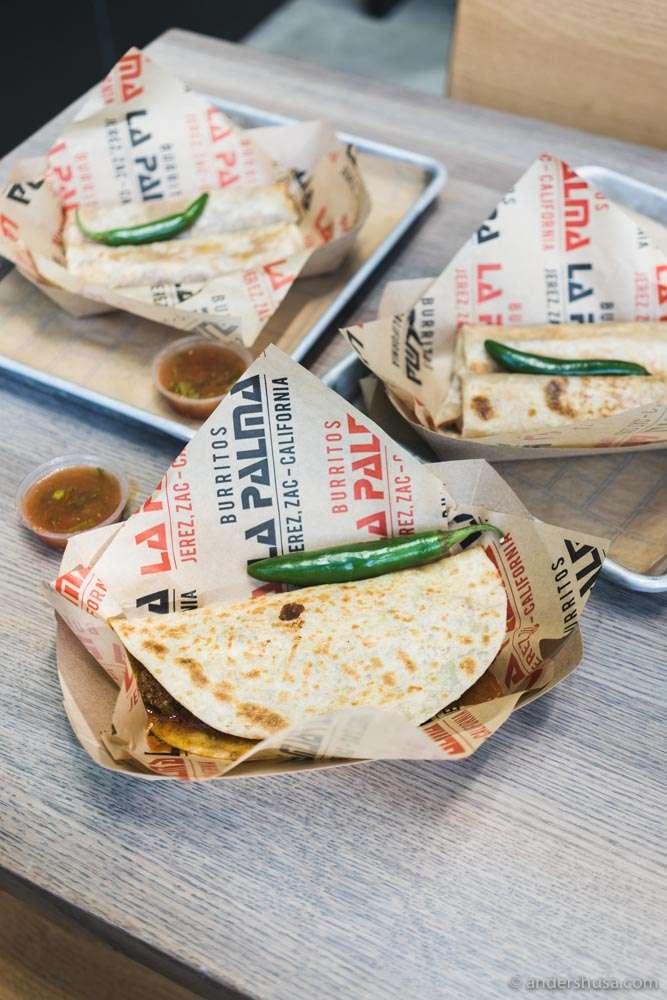 Burritos La Palma have the best mini burritos in Los Angeles