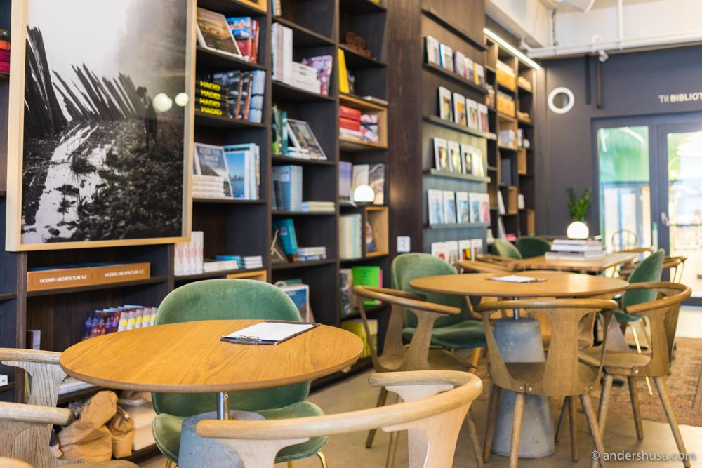 Sellanraa doubles as a book store and café.
