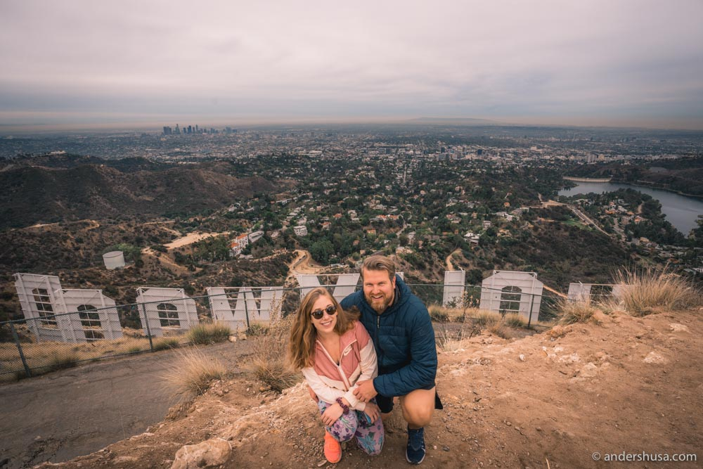 From the top – as close as you can get to the Hollywood Sign!
