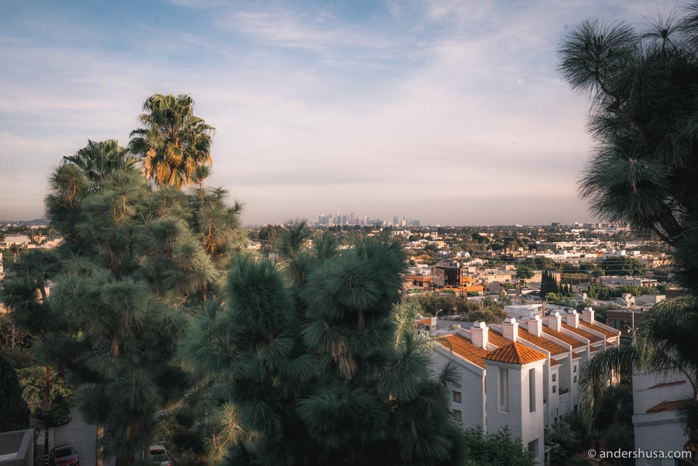 A view of Downtown L.A. from West Hollywood.