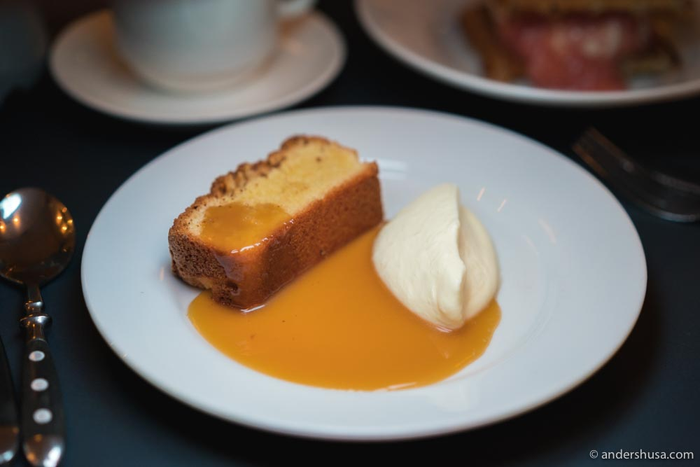 At no. 20 is the almond cake at Bar Agrikultur in Stockholm, Sweden.