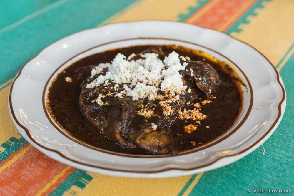 At no. 21 are the enmoladas at Fonda Florecita in Oaxaca, Mexico.