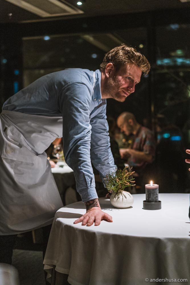 Esben Holmboe Bang during the very last service at Maaemo 1.0.