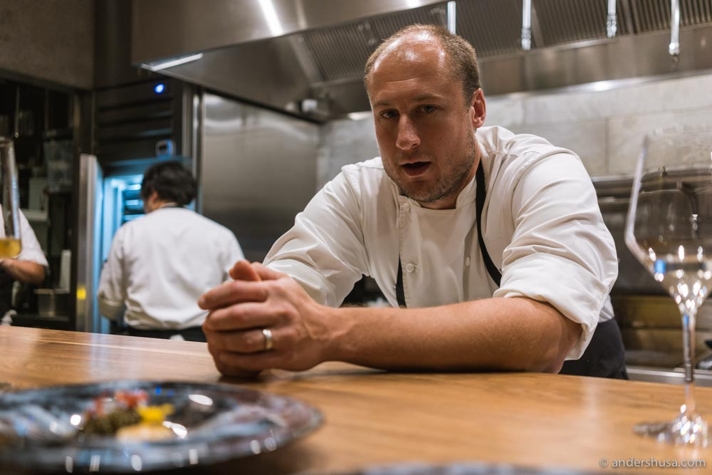 Chef Dave Beran, formerly of Alinea in Chicago.