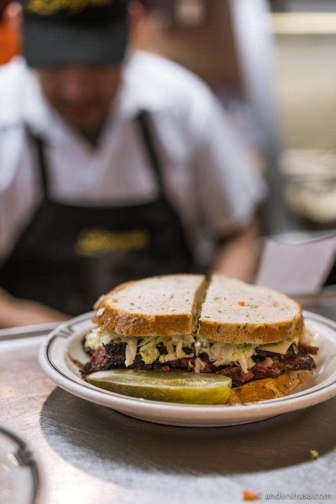 Langer's signature #19 sandwich.