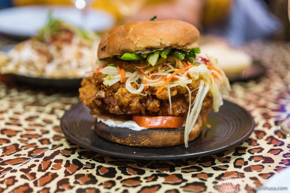 Their famous fried chicken sandwich is the best we've had.