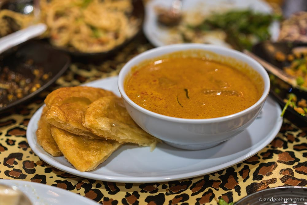 Panang neua – beef short rib curry with roti on the side.