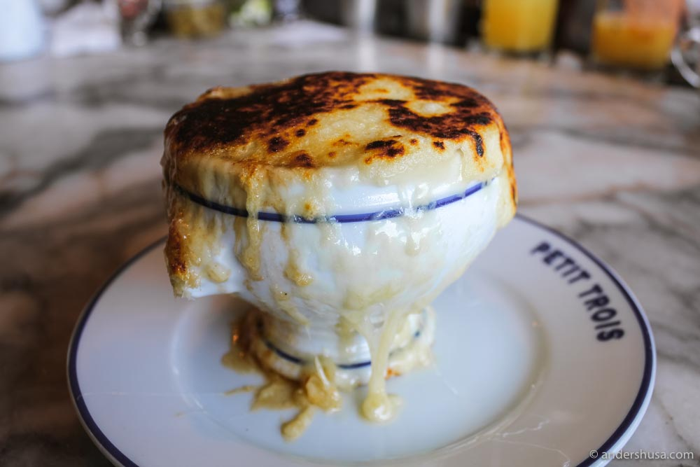 The French onion soup at Petit Trois is to die for!