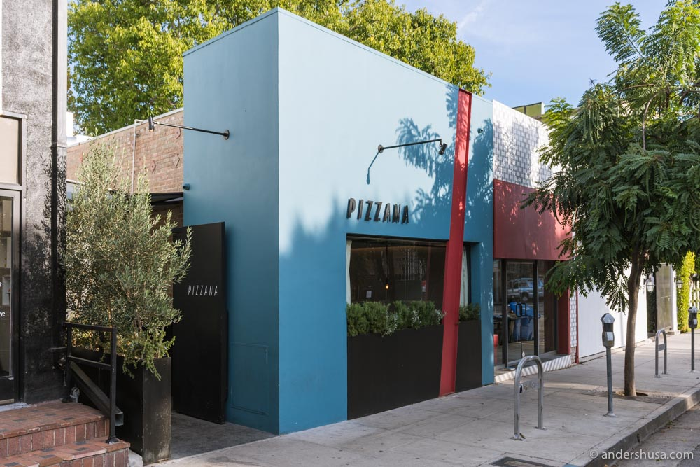Pizzana started in Brentwood, but the second location is now open in West Hollywood.