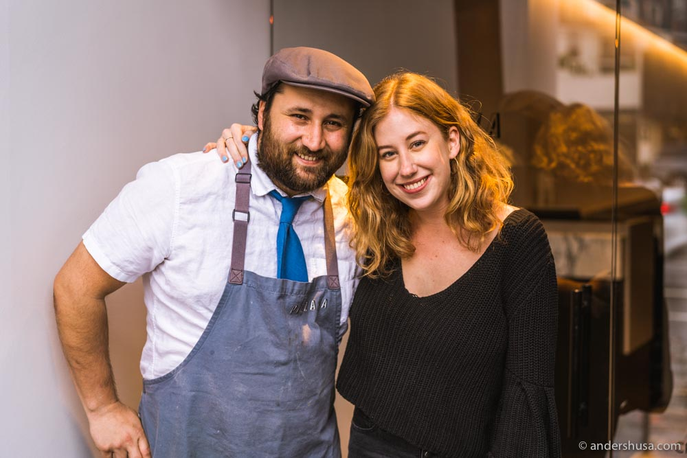 Kaitlin and Daniele became friends when she first tried Pizzana during her Jonathan Gold restaurant challenge.