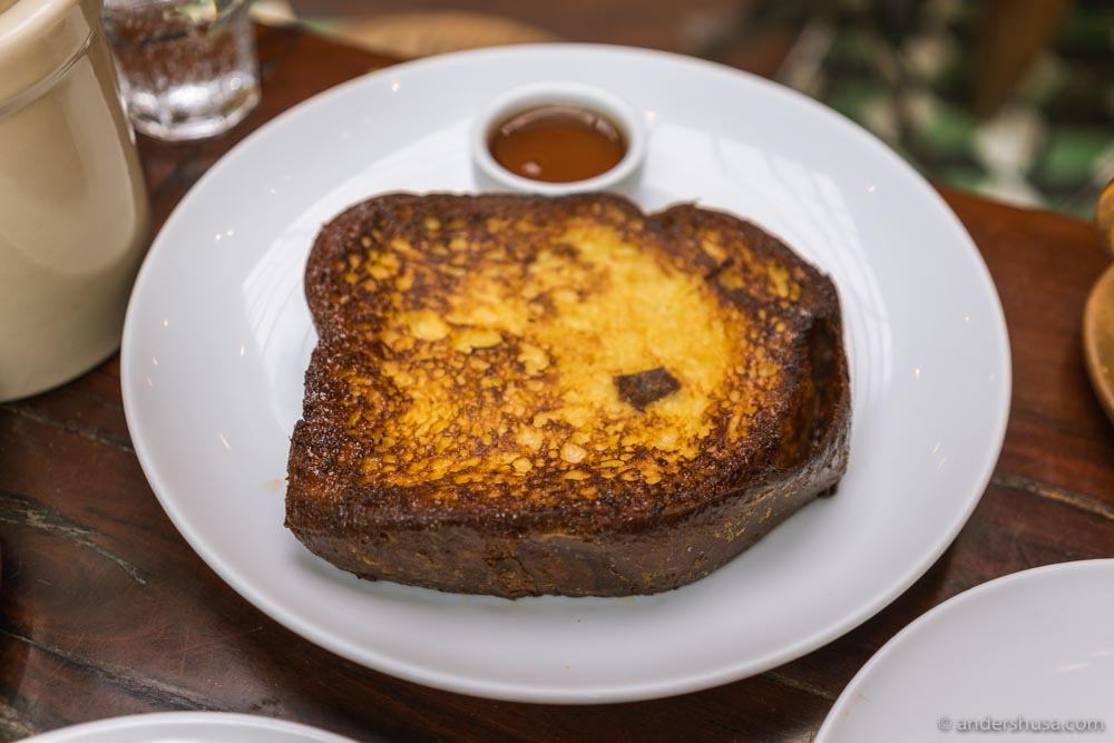 It looks simple, but Republique's French toast is the best in the world.