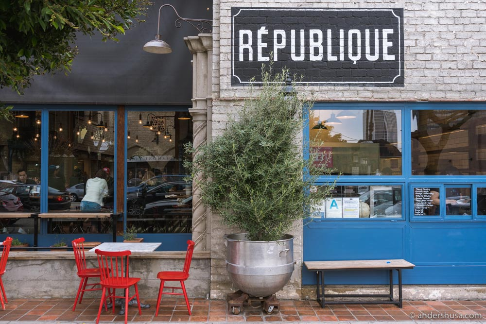 On weekend mornings, a long line stretches out the front door of Republique.