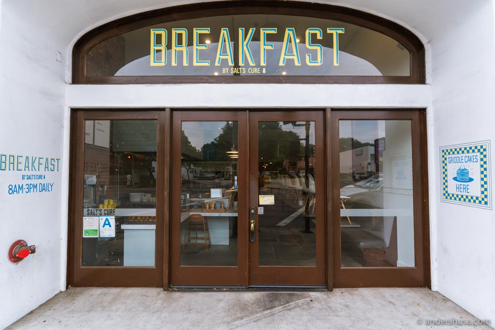 Salt's Cure also has a breakfast-only spot on Santa Monica Boulevard.