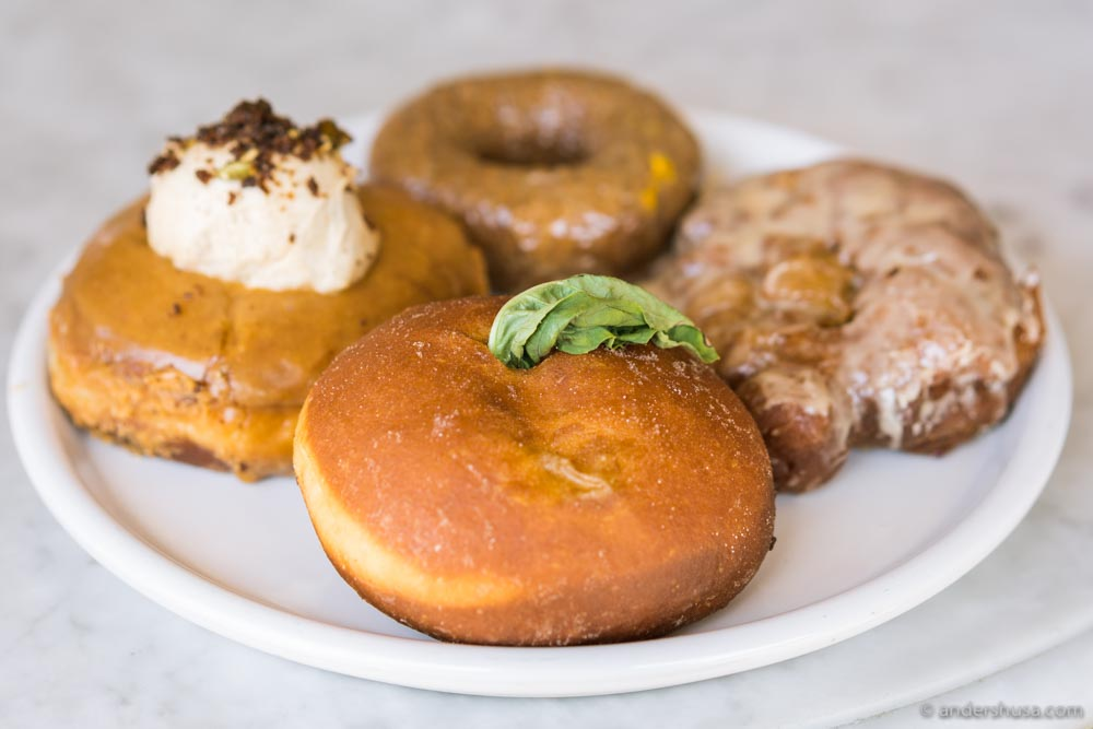 Happiness is a plateful of Sidecar Doughnuts.
