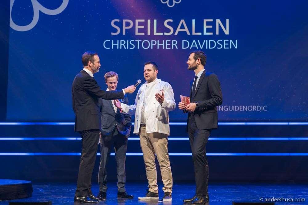 Chef Christopher Davidsen at Speilsalen won a star for the host city!