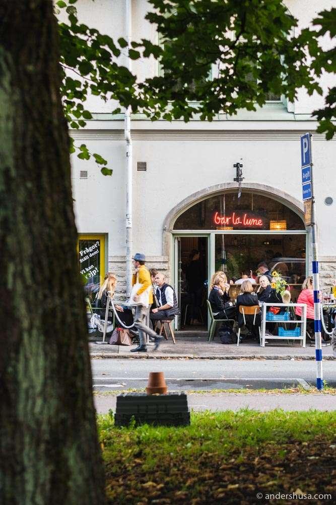 Bar La Lune is a little slice of Paris in Gothenburg.