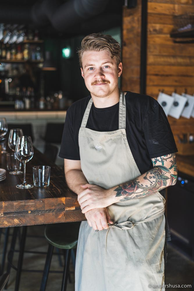 Chef Christoffer Sjögren of Grano.