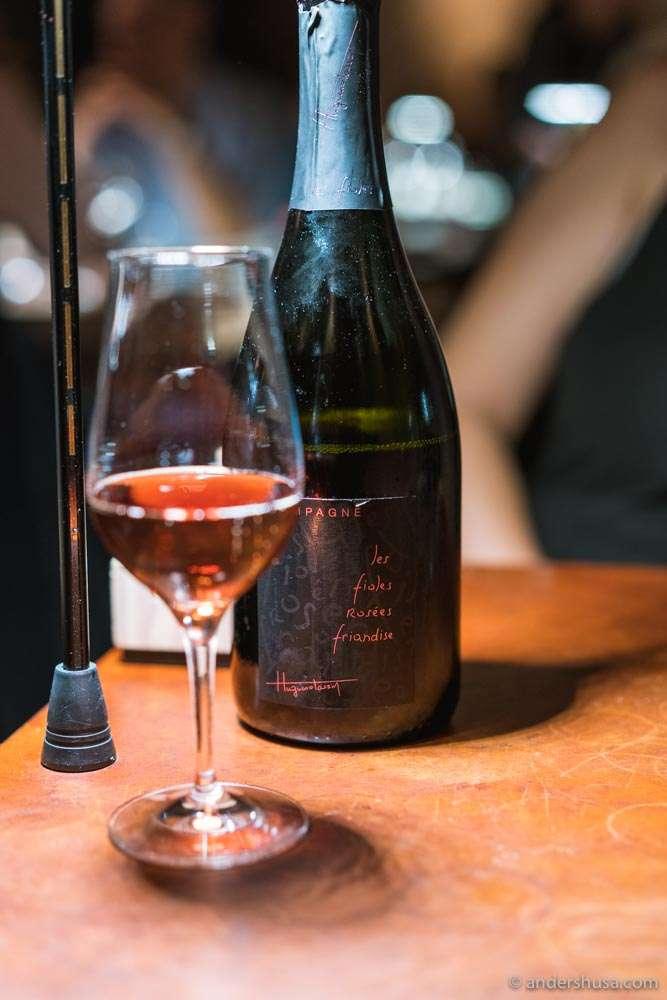 Huguenot Tassin – Les Fioles Rosées Brut Champagne.
