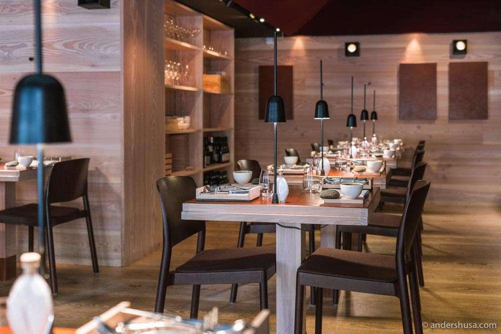 The dining room at one Michelin-starred Koka.