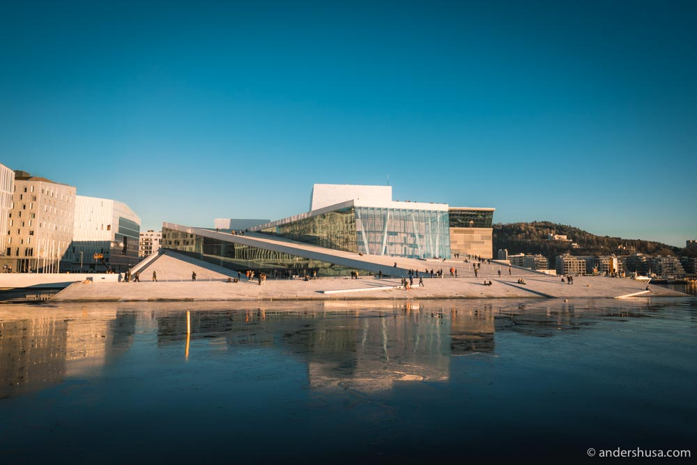 The striking Opera House, Oslo's most famous building.