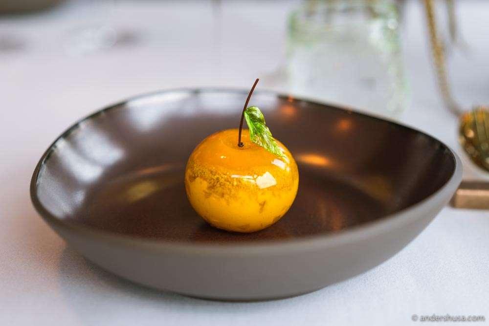 The signature mandarin dessert.