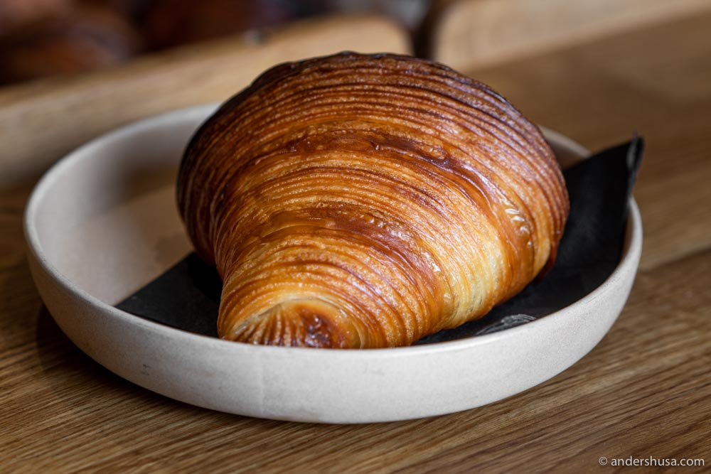 The most perfect butter croissant we've ever tasted!