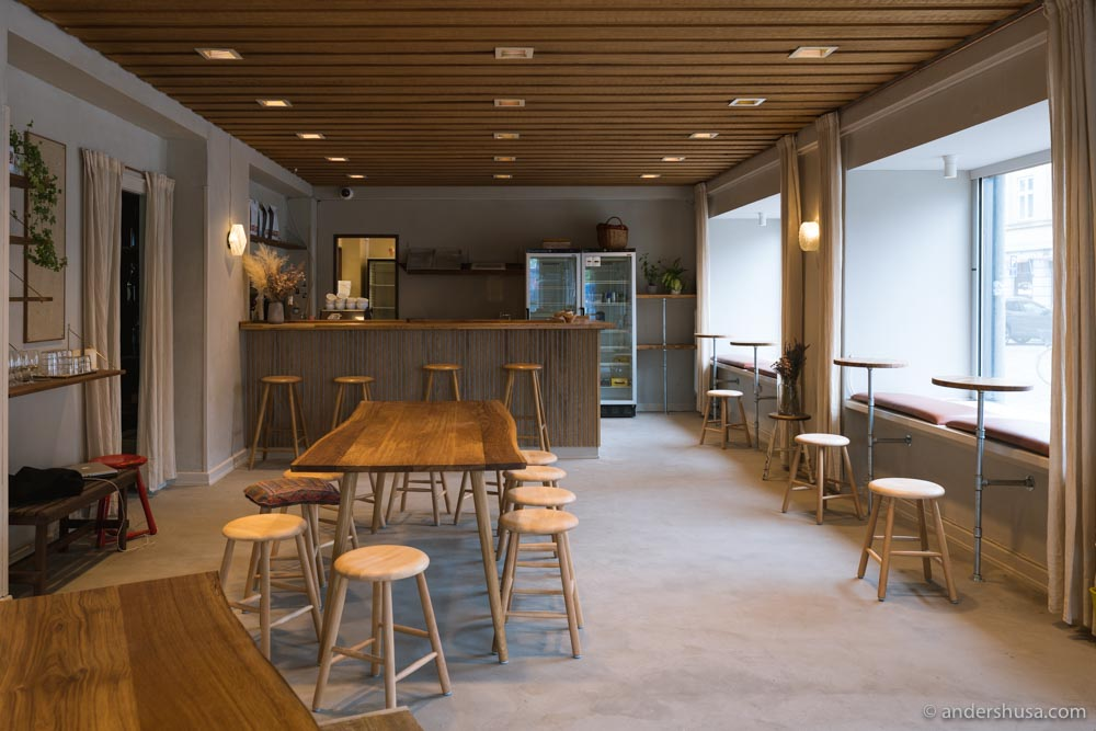 The interior of the new Alice ice cream and coffee shop.