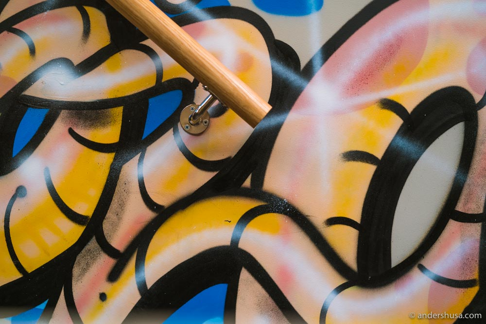 Graffiti on the walls at Galt.
