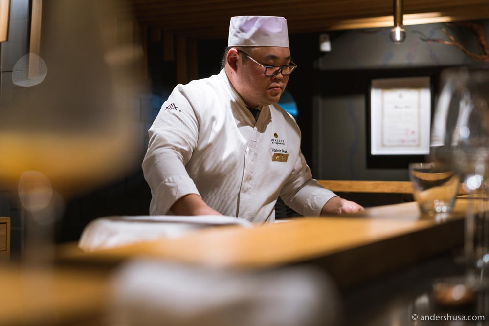 A focused chef Vladimir Pak.