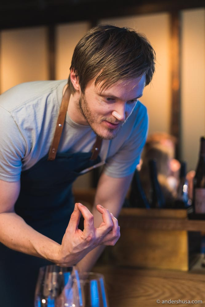 Chef Svein Trandem previously worked at Maaemo before opening Einer.