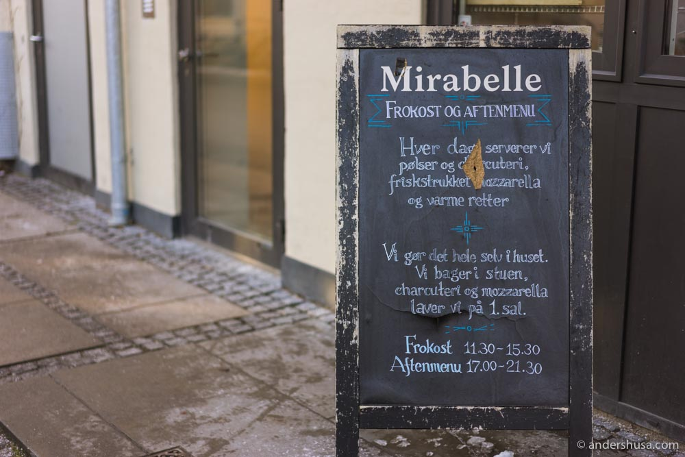 Mirabelle is a bakery in the morning and a pasta restaurant in the afternoon.