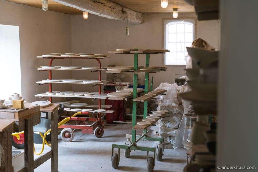 Inside the Lov i Listed workshop.