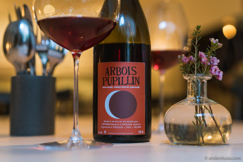 Arbois Pupillin Ploussard 2017 – Renaud Bruyère and Adeline Houillon.