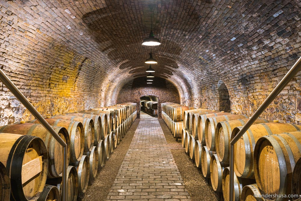 Wieninger's cellar is located underneath an old Catholic monastery that dates back to the 16th century.