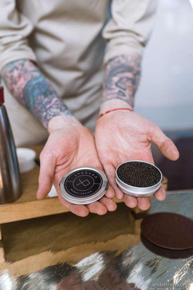 Baerii caviar from Lyksvad.