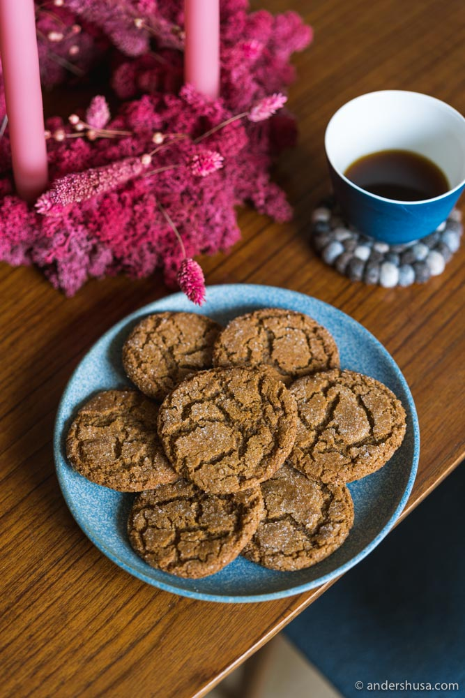 Chewy molasses cookies are the perfect holiday dessert!