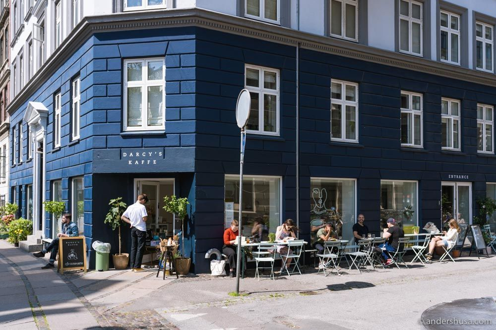 Darcy's Kaffe is situated on a sunny corner on Rantzausgade.