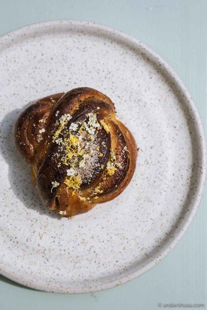 The elderflower cardamom bun from Darcy's Kaffe.