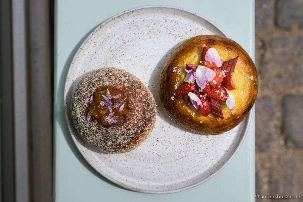 Seasonal brioche buns from Darcy's Kaffe.
