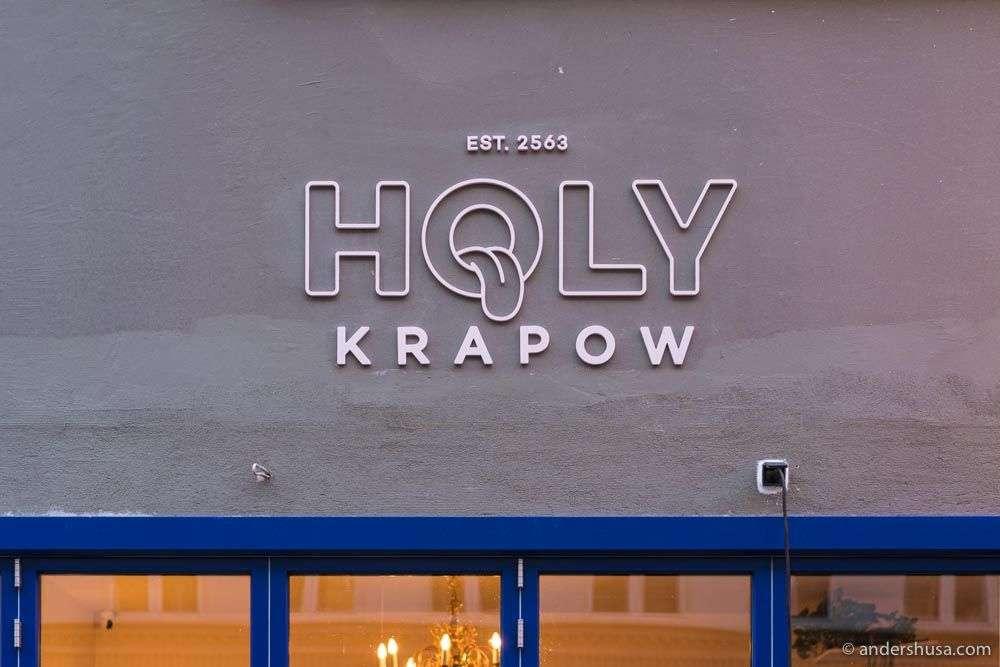 Holy Krapow opened in November 2020 in Vesterbro.
