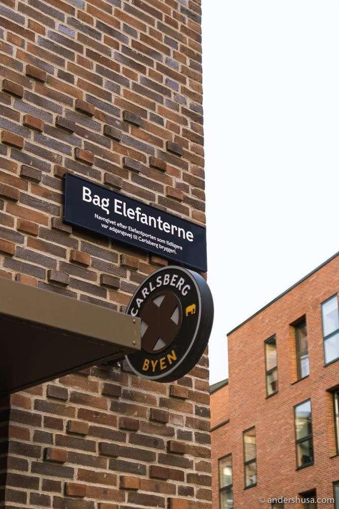 """Find Surt """"behind the elephants"""" in Carlsberg Byen."""